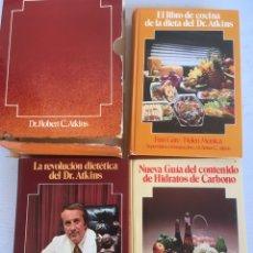 Libros de segunda mano: LA REVOLUCION DIETETICA DEL DR. ATKINS DEL DR. ROBERT C. ATKINS ESTUCHE CON TRES TOMOS. Lote 179114805