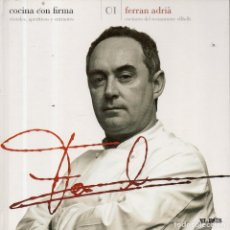 Libros de segunda mano: VESIV LIBRO COCINA CON FIRMA Nº1 FERRAN ADRIA . Lote 179212922