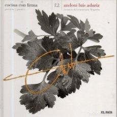 Libros de segunda mano: VESIV LIBRO COCINA CON FIRMA Nº12 ANDONI LUIS ADURIZ. Lote 179216850