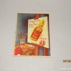 Libros de segunda mano: ANTIGUO EXPOSICIÓN DE FÓRMULAS DEL LICOR 43 - AÑO 1950S.. Lote 179227022
