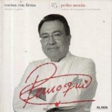Libros de segunda mano: VESIV LIBRO COCINA CON FIRMA Nº25 PEDRO MORAN . Lote 179231916
