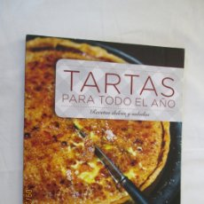 Libros de segunda mano: TARTAS PARA TODO EL AÑO ( RECETAS DULCES Y SALADAS ).VIRGINIE GARNIER ( RBA ) 2016. . Lote 180036722