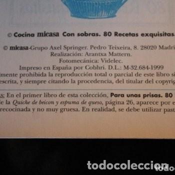 Libros de segunda mano: con sobras 80 recetas exquisitas ( micasa ) - Foto 2 - 180271188