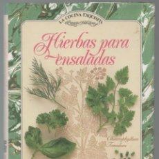 Libros de segunda mano: HIERBAS PARA ENSALADAS. JILL NORMAN. Lote 180409726