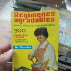 Libri di seconda mano: REGÍMENES AGRADABLES, DR. VANDER. L.809-1728. Lote 181138822