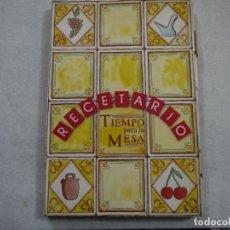 Libros de segunda mano: RECETARIO TIEMPO PARA LA MESA. CARPETA CON FICHAS - DIFUSORA INTERNACIONAL - 1986. Lote 181407826