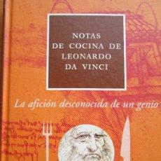 Libros de segunda mano: NOTAS DE COCINA DE LEONARDO DA VINCI. Lote 182968823
