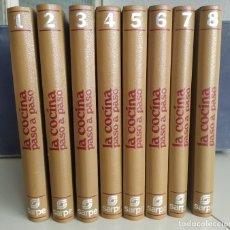 Libros de segunda mano: LA COCINA PASO A PASO. GRAN ENCICLOPEDIA SARPE. 8 TOMOS. 1979. Lote 183327616