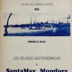 Libros de segunda mano: LIBRO + FICHAS COCMIDA AMERICANA USA EE UU - WILKS - SANTAMAY MUMFORS VELADAS GASTRONOMICAS. Lote 183421418