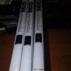 Libros de segunda mano: VOL.I.II Y III. COCINA MICROONDAS. RECETARIO PARA UNA NUEVA FORMA DE COCINA. EST11B2. Lote 185245387