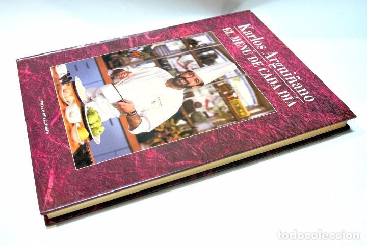 Libros de segunda mano: LIBRO DE COCINA EL MENU DE CADA DIA KARLOS ARGUÑANO , 190 PAGINAS - Foto 2 - 186047962