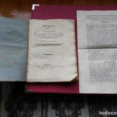 Libros de segunda mano: OPÚSCULO SOBRE LA VINIFICACIÓN. ORIGINAL DE 1821+FOLLETO DE INSTRUCCIONES.. Lote 186351170