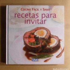 Libros de segunda mano: COCINA FACIL Y SANA, 59 RECETAS PARA INVITAR. Lote 187531222