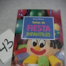 Libros de segunda mano: TARTAS DE FIESTA INFANTILES. Lote 189701831