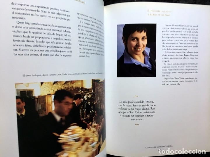 Libros de segunda mano: LA CUINA DE SANTI SANTAMARIA EL RACÓ DE CAN FABES - LÈTICA DEL GUST - 1999 - PRIMERA EDICIÒ - - Foto 6 - 189974840