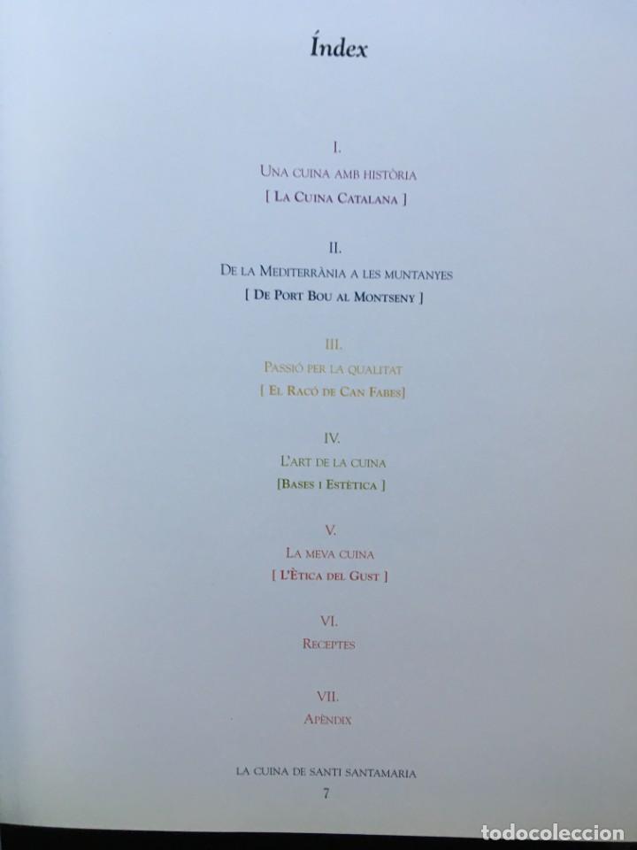 Libros de segunda mano: LA CUINA DE SANTI SANTAMARIA EL RACÓ DE CAN FABES - LÈTICA DEL GUST - 1999 - PRIMERA EDICIÒ - - Foto 18 - 189974840