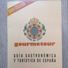 Libros de segunda mano: GOURMETOUR 1996 GUIA GASTRONOMICA Y TURISTICA DE ESPAÑA TAPA BLANDA 1995 BUEN ESTADO. Lote 190512403