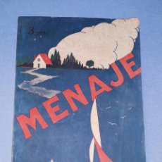 Libros de segunda mano: MENAJE REVISTA MENSUAL PARA LA MUJER Y EL HOGAR Nº 179 AÑO 1945 CON MUCHA PUBLICIDAD. Lote 190700966