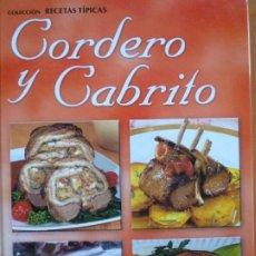 Libros de segunda mano: CORDERO Y CABRITO. Lote 190902468