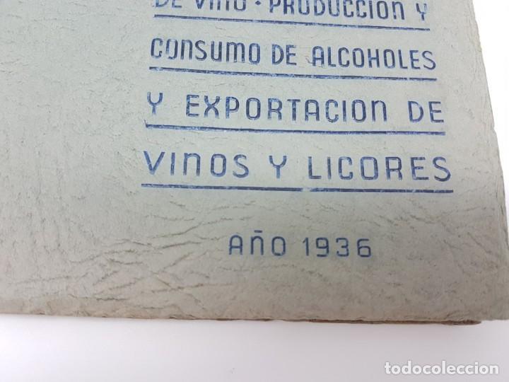 Libros de segunda mano: INSTITUTO NACIONAL DEL VINO ( ESTADÍSTICA COSECHA ) 1936 - Foto 2 - 191056993