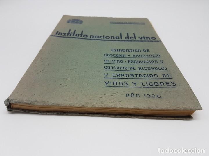 Libros de segunda mano: INSTITUTO NACIONAL DEL VINO ( ESTADÍSTICA COSECHA ) 1936 - Foto 15 - 191056993