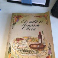 Libros de segunda mano: ELS MILLORS MENUS DE L AVIA. Lote 191183493