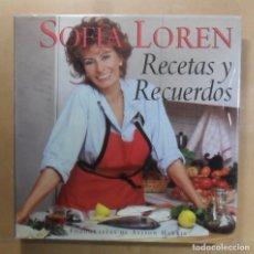 Livres d'occasion: SOFIA LOREN - RECETAS Y RECUERDOS - GRAFALCO - 1999. Lote 280987393
