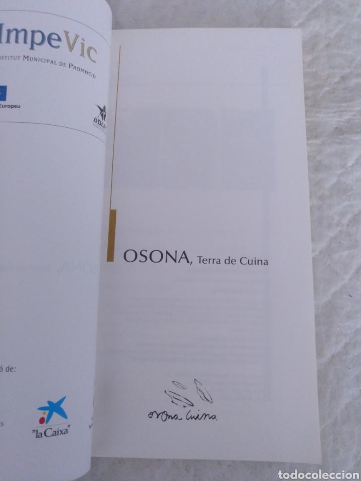 Libros de segunda mano: Osona, Terra de cuina. Libro - Foto 2 - 194062303