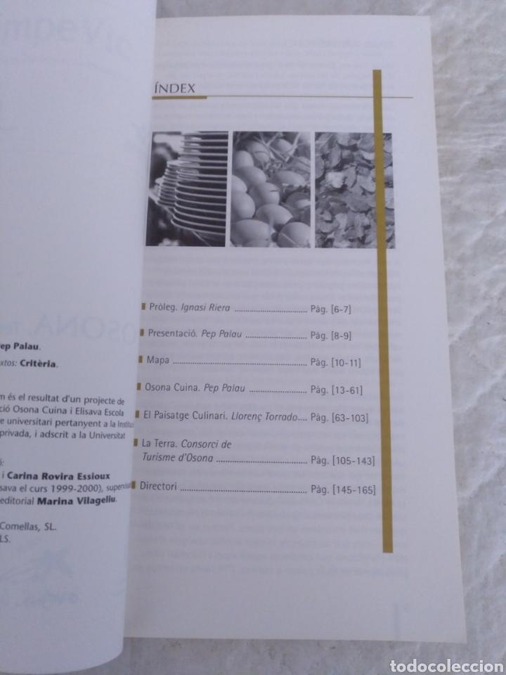 Libros de segunda mano: Osona, Terra de cuina. Libro - Foto 3 - 194062303