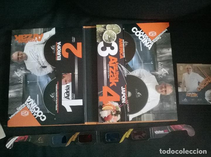 Libros de segunda mano: Juan Mari Arzak: La Divina Cocina - 3 tomos + 5 DVDs + acta notaria - ed. limitada (2013) precintado - Foto 3 - 194065812