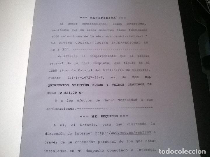 Libros de segunda mano: Juan Mari Arzak: La Divina Cocina - 3 tomos + 5 DVDs + acta notaria - ed. limitada (2013) precintado - Foto 4 - 194065812
