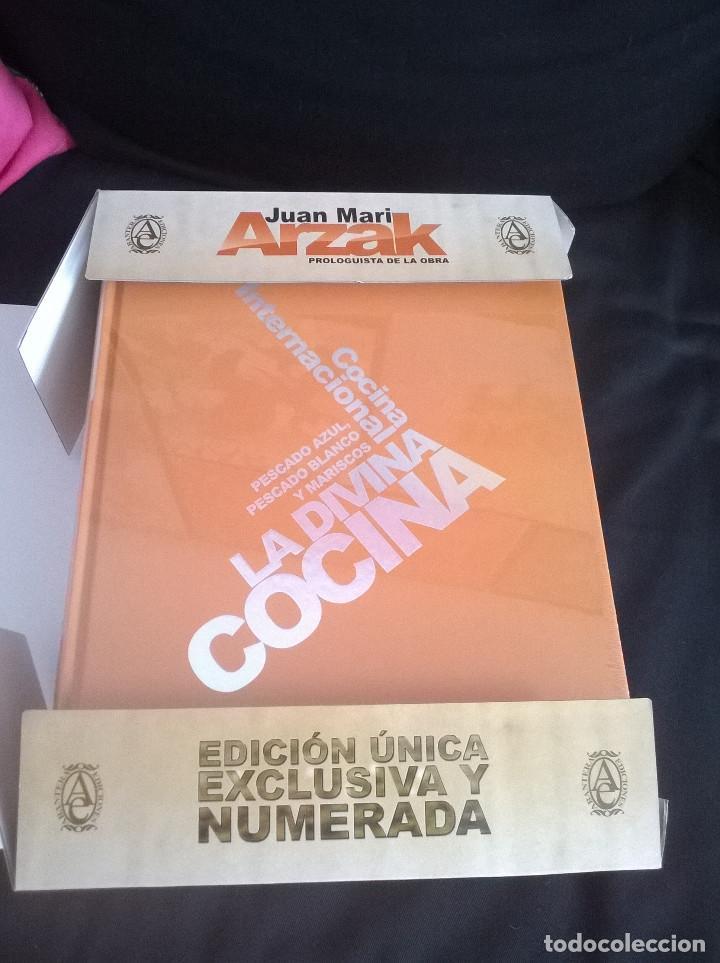 Libros de segunda mano: Juan Mari Arzak: La Divina Cocina - 3 tomos + 5 DVDs + acta notaria - ed. limitada (2013) precintado - Foto 9 - 194065812