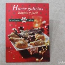 Libros de segunda mano: HACER GALLETAS RAPIDO Y FACIL . Lote 195048431