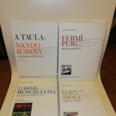 Libros de segunda mano: JAUME COLL, QUADERNS DE GASTRONOMIA 1,2,3,4, NANDO JUBANY,RUSCALLEDA,SERGI AROLA , FERMI PUIG,. Lote 195152577