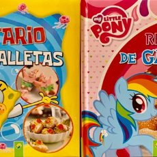Libri di seconda mano: RECETARIOS DE GALLETAS DE BOB ESPONJA Y MY LITTLE PONY.. Lote 195278707