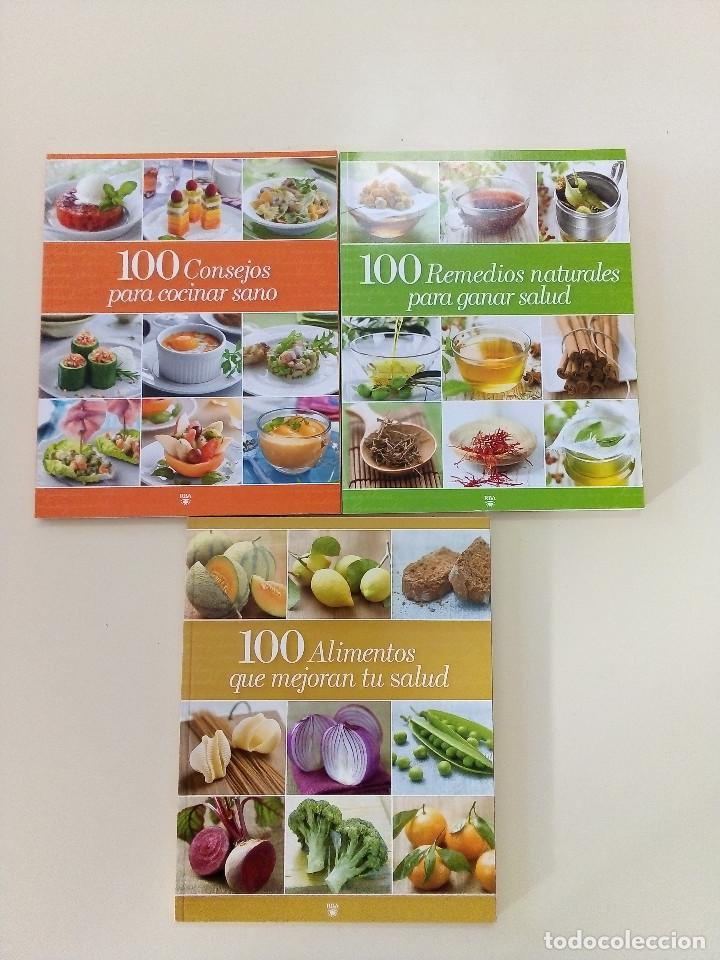 100 ALIMENTOS, CONSEJOS, REMEDIOS PARA COCINAR Y MEJORAR LA SALUD-3 VOLS-ED. RBA-2009-COMO NUEVOS (Libros de Segunda Mano - Cocina y Gastronomía)