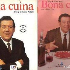 Libros de segunda mano: BONA CUINA - PRIMER I SEGON LLIBRE -. Lote 197811922