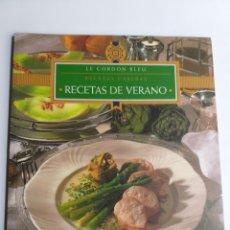 Livres d'occasion: RECETAS CASERAS RECETAS DE VERANO LE CORDON BLEU. Lote 197816543