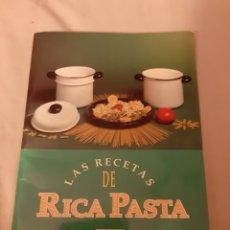 Libros de segunda mano: LIBRO LAS RECETAS DE RICA PASTA (FASGA) 1.993 PLANETA DE AGOSTINI. Lote 198367910