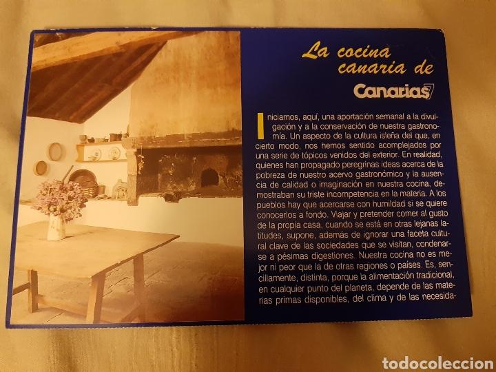 Libros de segunda mano: Coleccionable 100 fichas La Cocina Canarias. 1.992. (Canarias 7) - Foto 2 - 198372211
