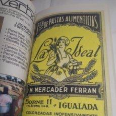 Libros de segunda mano: LIBRO GUÍA TURÍSTICA Y GASTRONÓMICA DE L'ANOIA PASTAS ALIMENTICIAS LA IDEAL IGUALADA. Lote 199558443