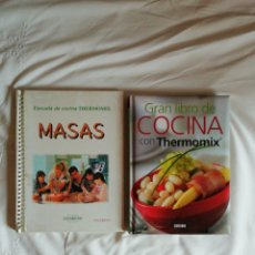 Libros de segunda mano: GRAN LIBRO DE COCINA CON THERMOMIX Y ESCUELA DE COCINA THERMOMIX MASAS. Lote 202661168