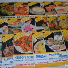 Livres d'occasion: 19 LIBROS / RECETAS COCINA ANTIGUAS / BIBLIOTECA, EL AMA DE CASA / EDIT. MOLINO, AÑOS 50/60 / LOTE 1. Lote 203574237