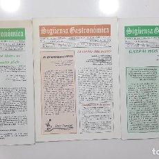 Libros de segunda mano: SIGÜENZA GASTRONÓMICA 14,15 Y 16. BOLETÍN COFRADÍA GASTRONÓMICA SEGUNTINA SANTA TERESA (GUADALAJARA). Lote 203876196