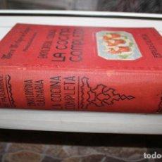 Libros de segunda mano: ENCICLOPEDIA CULINARIA LA COCINA COMPLETA, MARIA MESTAYER DE ECHAGUE, MARQUESA DE PARABERE.1963. Lote 204362060