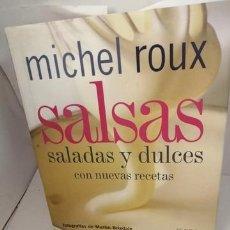 Libros de segunda mano: SALSAS SALADAS Y DULCES CON NUEVAS RECETAS. Lote 204850781
