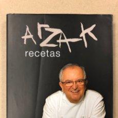 Libros de segunda mano: ARZAK, RECETAS. JUAN MARI ARZAK. BAINET EDITORIAL 2008. ILUSTRADO. TAPA DURA CON SOBRECUBIERTA. Lote 205120963