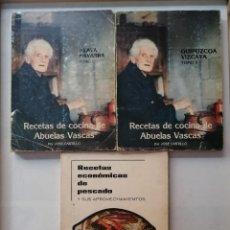 Libros de segunda mano: RECETAS DE COCINA DE ABUELAS VASCAS Y RECETAS ECONÓMICAS DE PESCADO.(JOSE CASTILLO).. Lote 205735157