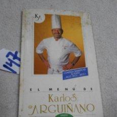Libros de segunda mano: EL MENU DE KARLOS ARMIÑANO. Lote 206574771