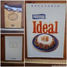 Libros de segunda mano: LOTE 3 RECETARIOS COCINA NESTLE: IDEAL, MIS RECETAS, RECETAS CON CHOCOLATE.. Lote 206804802